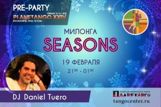 Милонга Seasons! DJ Daniel Tuero!